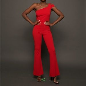 Adrienne Ayelle One Shoulder Jumpsuit